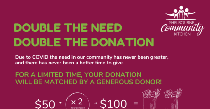 Double the Need, Double the Donation image