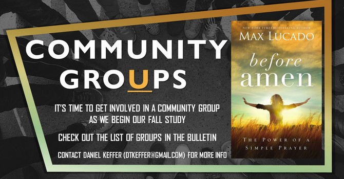 COMMUNITY GROUPS - IT'S TIME TO GET INVOLVED! image