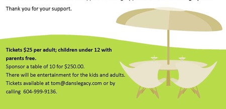Dan's Legacy: Community Dinner Fundraiser