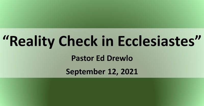 Reality Check in Ecclesiastes