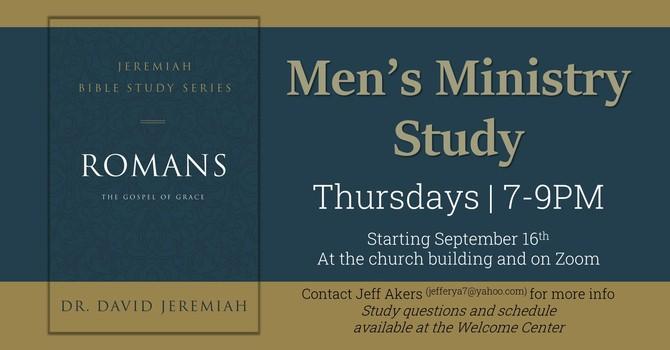 MEN'S BIBLE STUDY, Thursdays at 7:00pm image