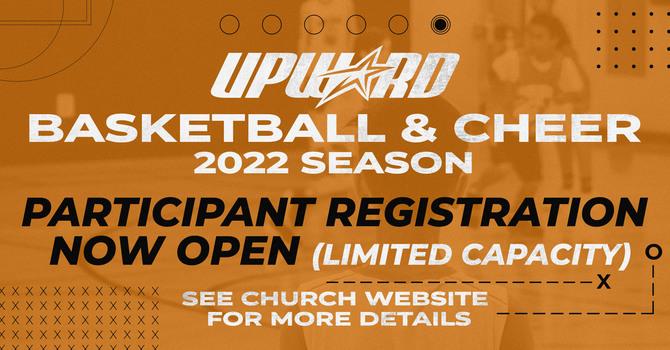 Upward Basketball & Cheer Registration NOW OPEN