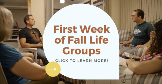 Fall Life Groups Begin