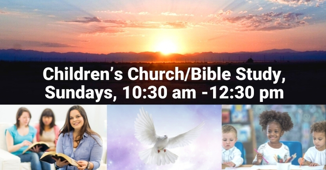 In-Person: Children's Church/Bible Study