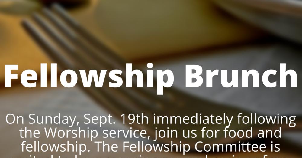Fellowship Brunch