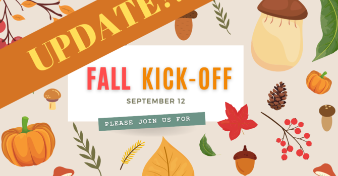 Fall Kick-Off Moved Indoors