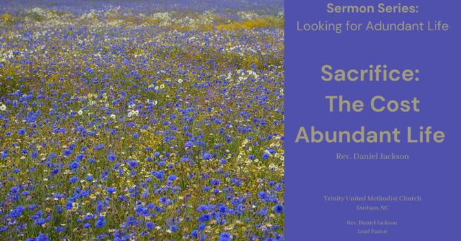 Sacrifice: the Cost of Abundant life