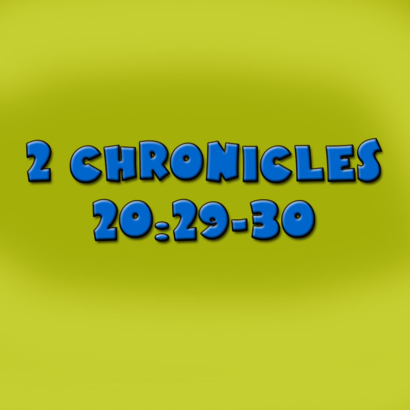 2 Chronicles 20:29-30