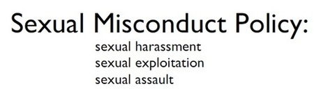 Sexual Misconduct Policy Workshop (open to all)