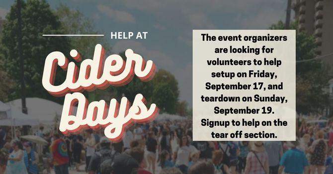 Volunteer at Cider Days