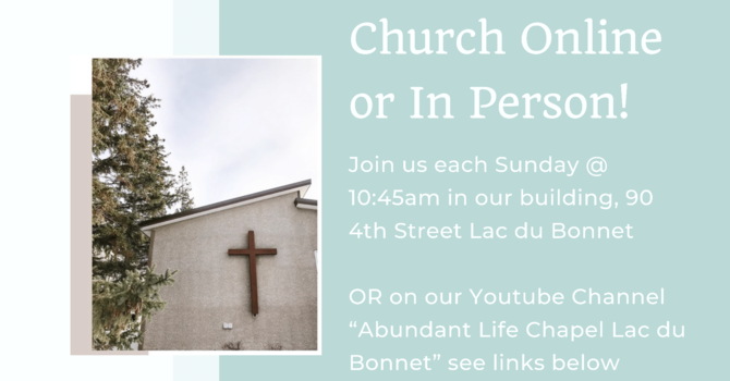 Church in Person OR Online