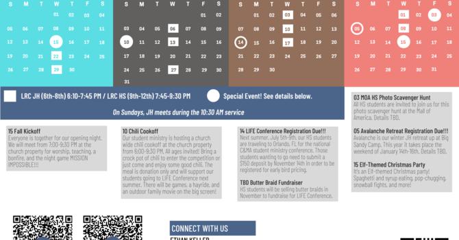 LRC Students Fall Calendar  image