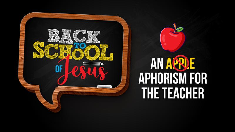 Back to the School of Jesus