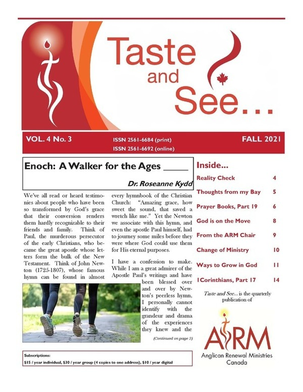 Fall Issue of Anglican Renewal Ministires Newsletter
