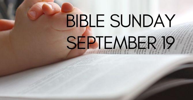 BIble Sunday! image