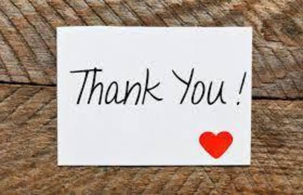 Note of Appreciation