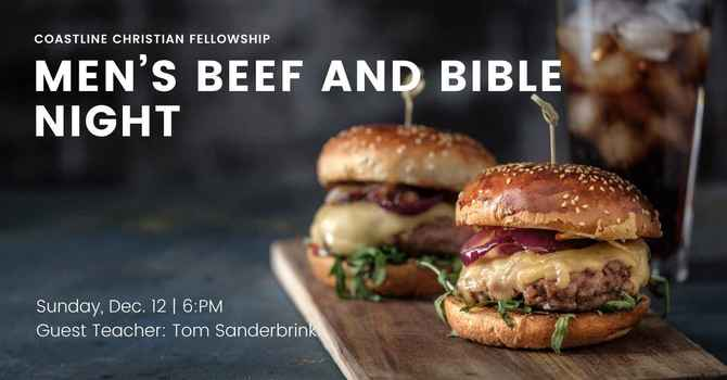Men's Beef and Bible Night