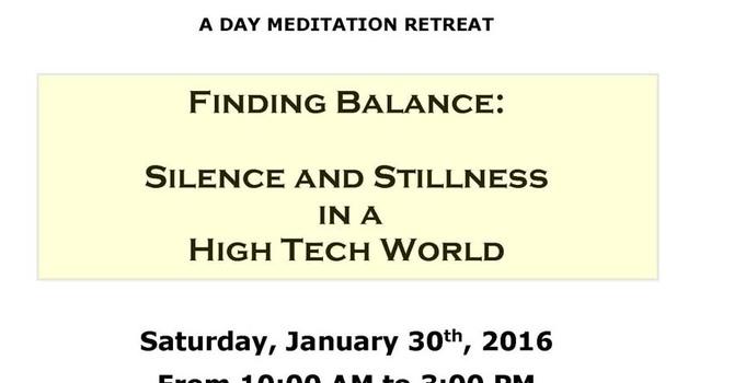 Finding Balance: Day Long Meditation Retreat