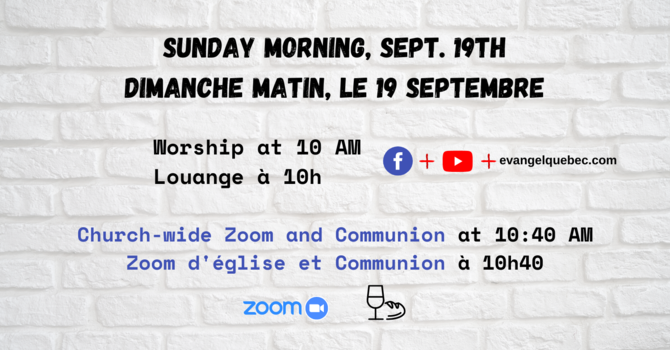 Sept. 19th, Sunday AM - Evangel Online