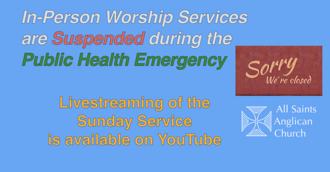 In-Person Worship Suspended image