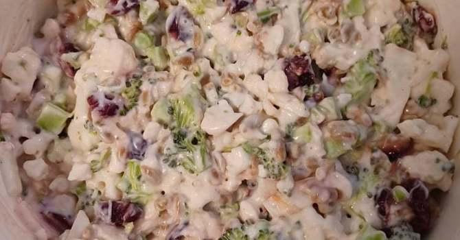 Cauliflower-Broccoli Salad by Susan Dickerson image