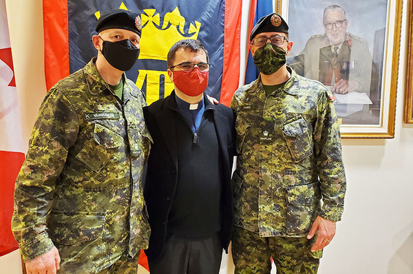 Rob Salloum enrolled as a captain of 8th Canadian Hussars