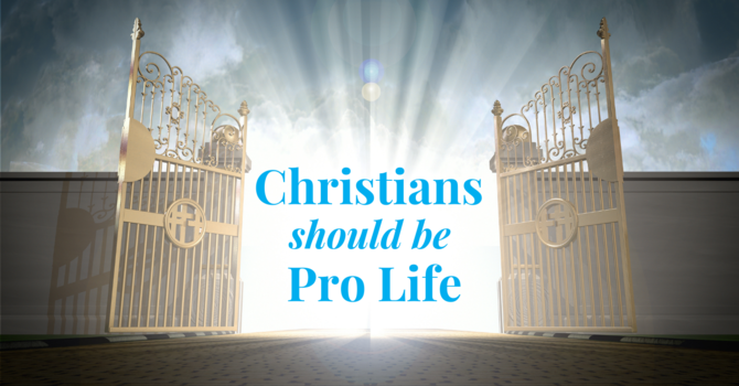Christians should be Pro Life