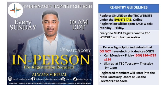 Register for Sunday Service