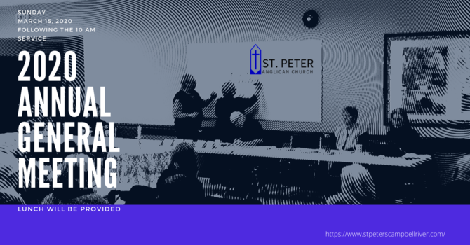 St. Peter Anglican Church Annual General Meeting