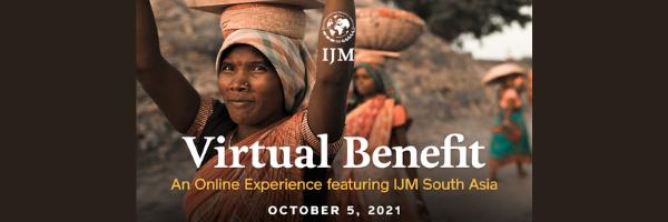 IJM Virtual Benefit · Oct 5 · 7-8PM