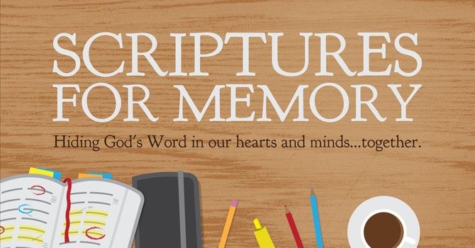 Scripture Memory Verses (updated) image