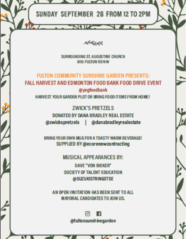 Harvest Donation Event This Sunday!