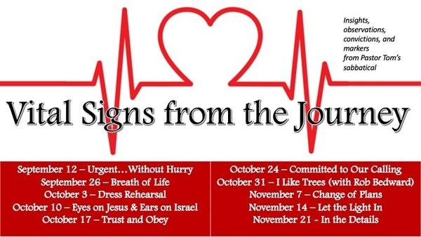 Vital Signs from the Journey
