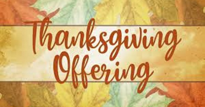Thanksgiving Offering image