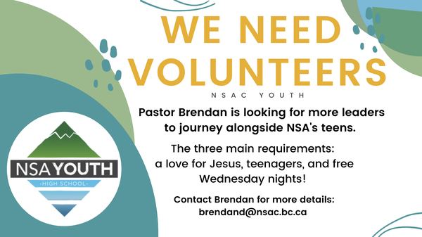 Volunteers Needed for Youth Ministry
