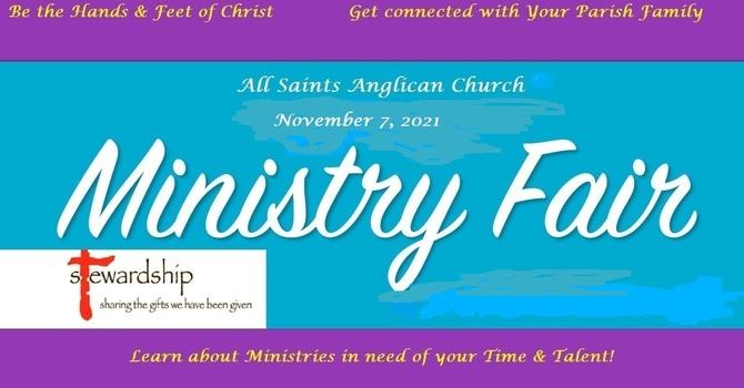 All Saints Ministry Fair November 7, 2021