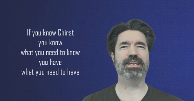 The Sufficiency of Christ