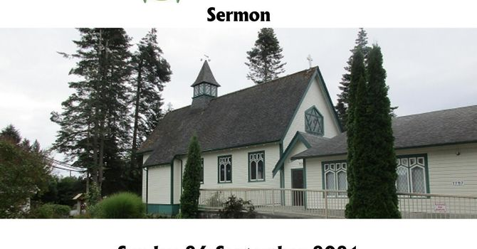 Sermon - Sunday 26th September image