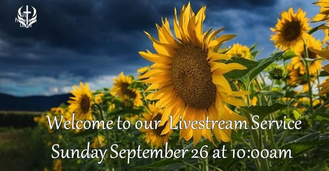 Sunday September 26 Livestream Service