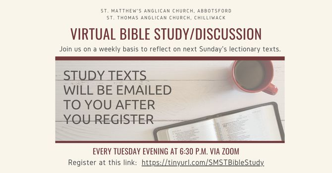 Virtual Bible Study/Discussion
