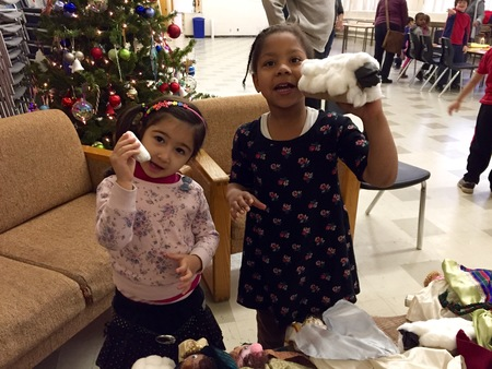 Christmas Messy Church gathers families
