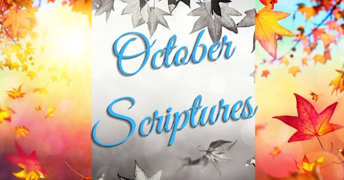 October's Scriptures image