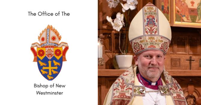 Pastoral Letter from Bishop John Stephens Regarding September 30 image