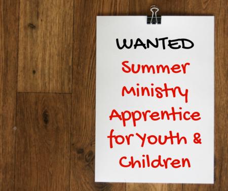 UPDATED:  Summer Intern for Youth & Children!