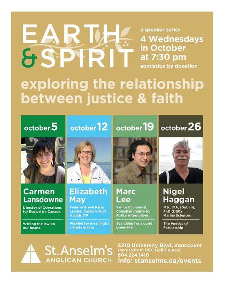 Earth & Spirit Speaker Series 2016