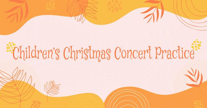 Children's Christmas Concert Practice