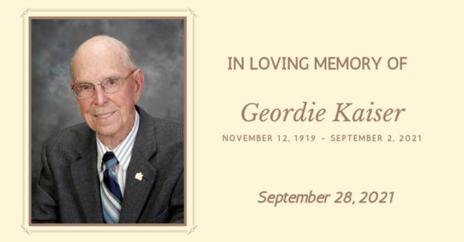 We say Goodbye to Geordie Kaiser
