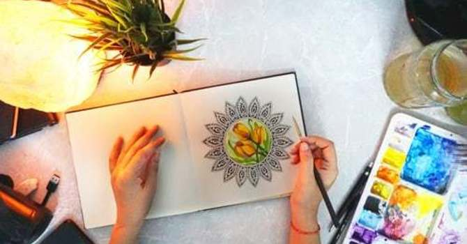 Mandala - stress release & spiritual practice image