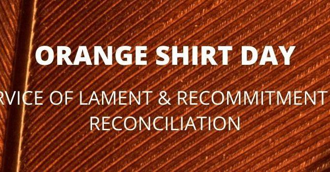 Lament & Recommitment of Reconciliation