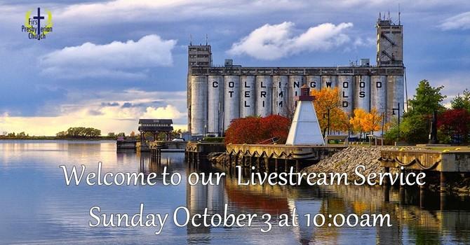 Sunday October 3 Livestream Service